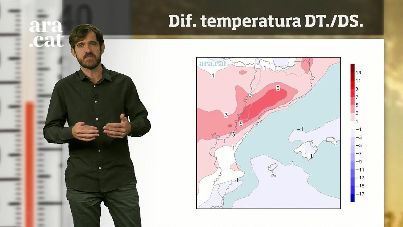 La méteo en 1 minut: més calor com més avanci la setmana