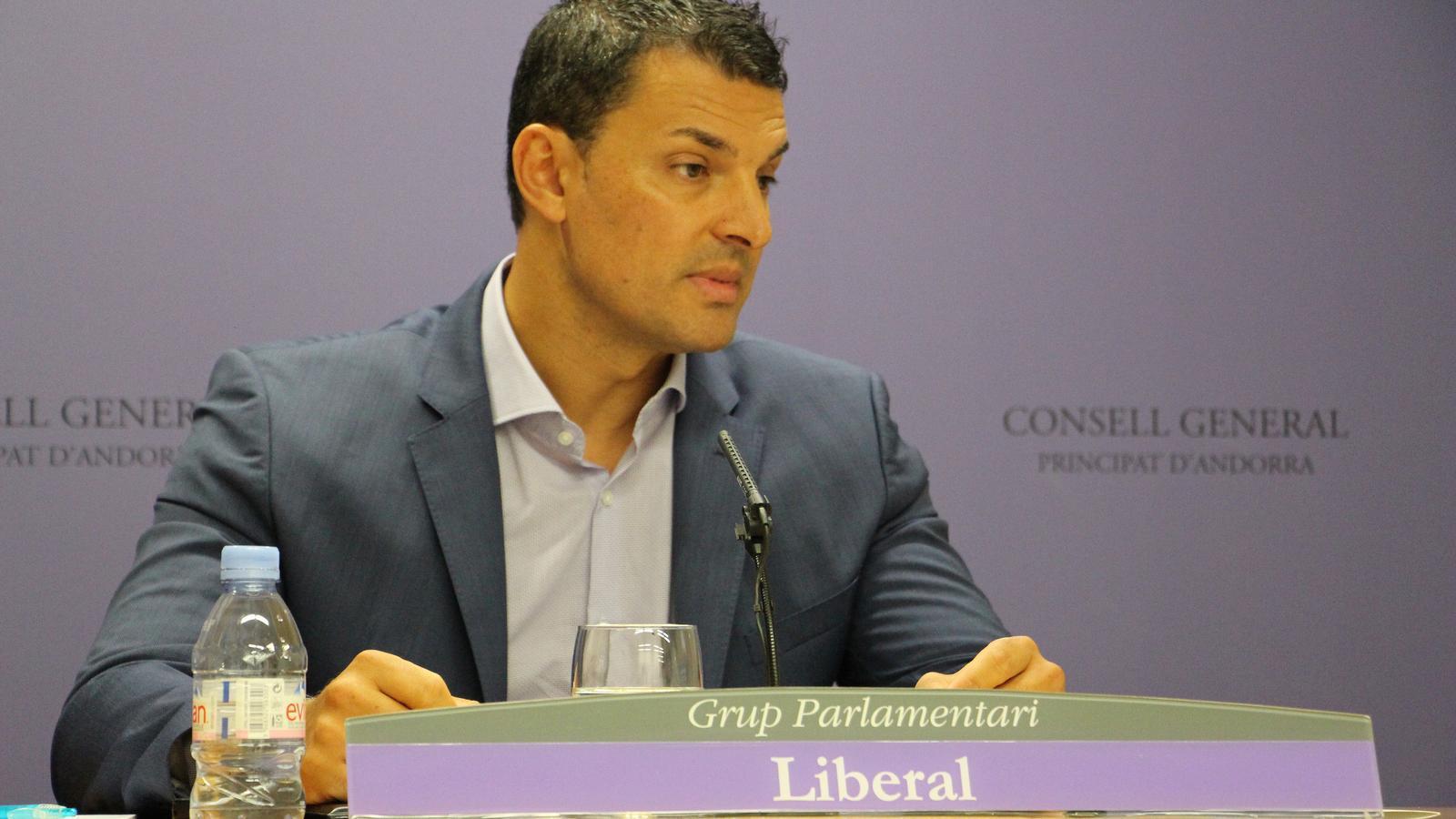 El president de Liberals d'Andorra i del grup parlamentari liberal Jordi Gallardo, aquest dijous. / N. T.