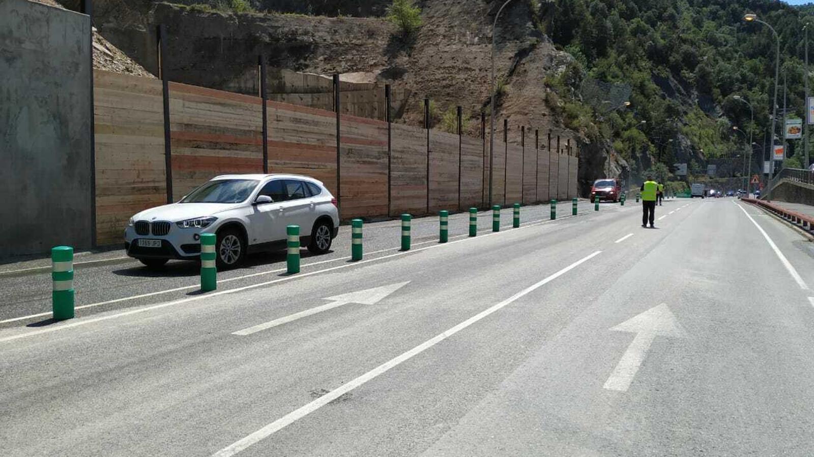 Imatge de la carretera ja oberta, aquest dimecres al migdia. / SFG