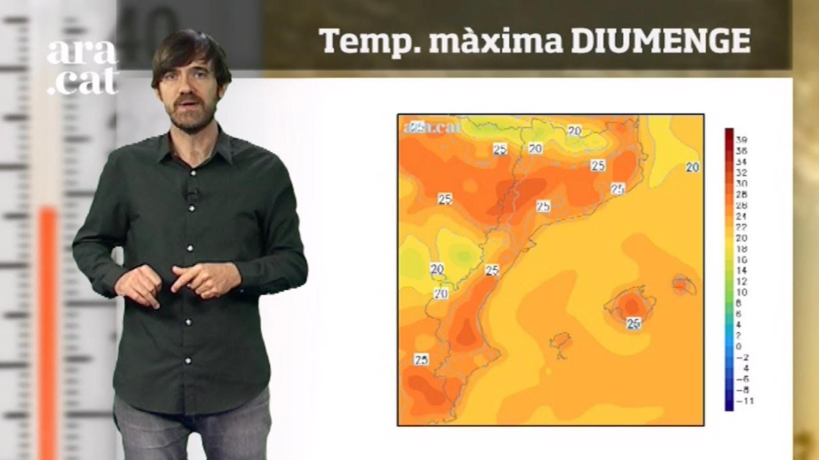 La méteo en 1 minut: calor d'estiu i xàfecs al final del cap de setmana