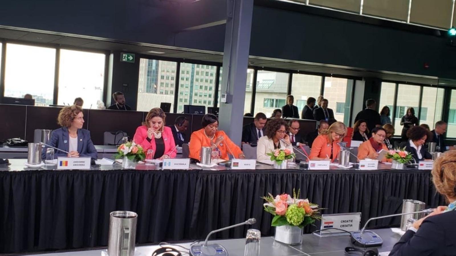 La ministra d'Afers Exteriors, Maria Ubach, durant la inauguració de la reunió. / TWITTER GOVERN