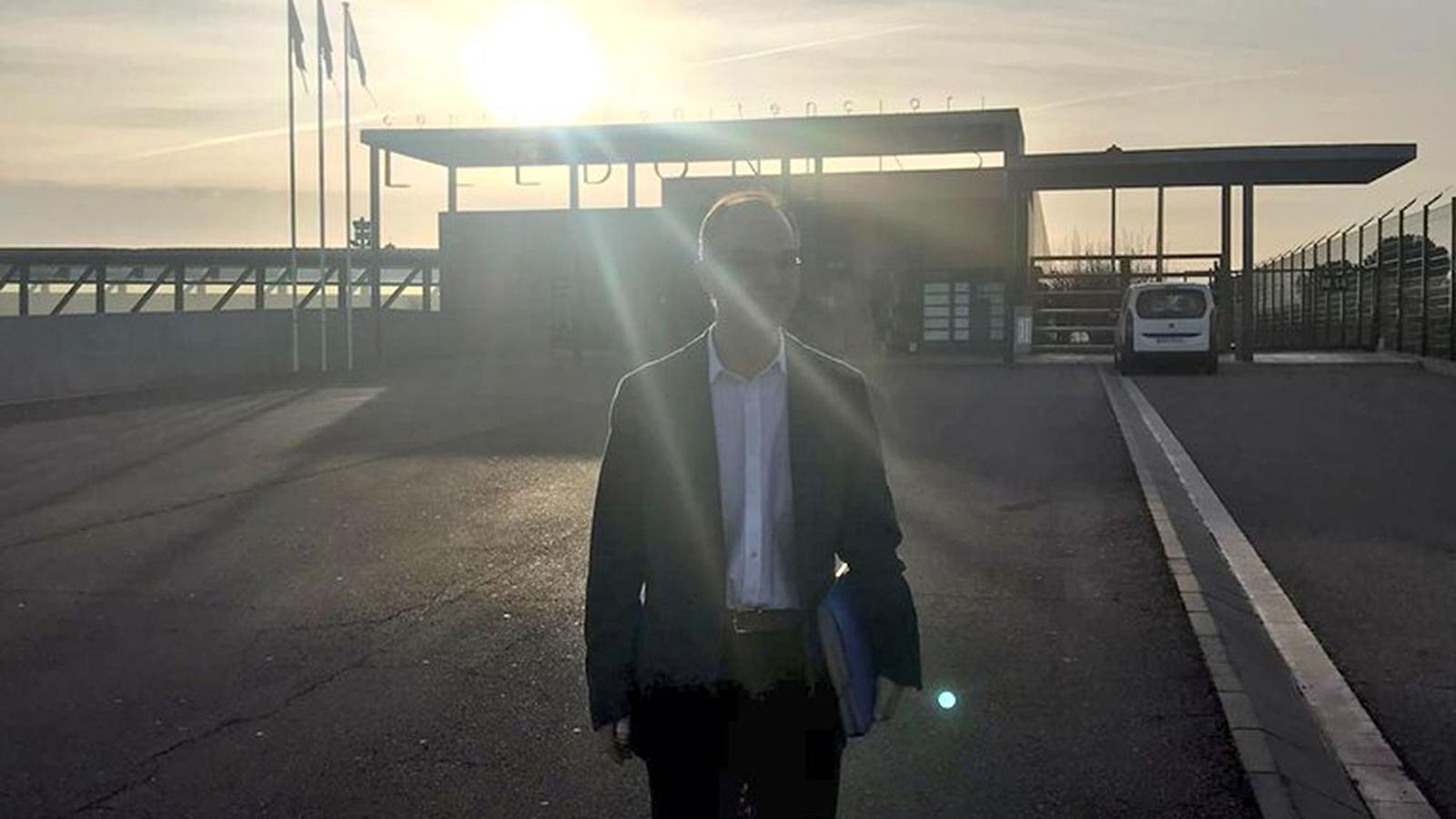 Imatge que el propi Jordi turull ha penjat al seu compte de Twitter, al sortir de Lledoners
