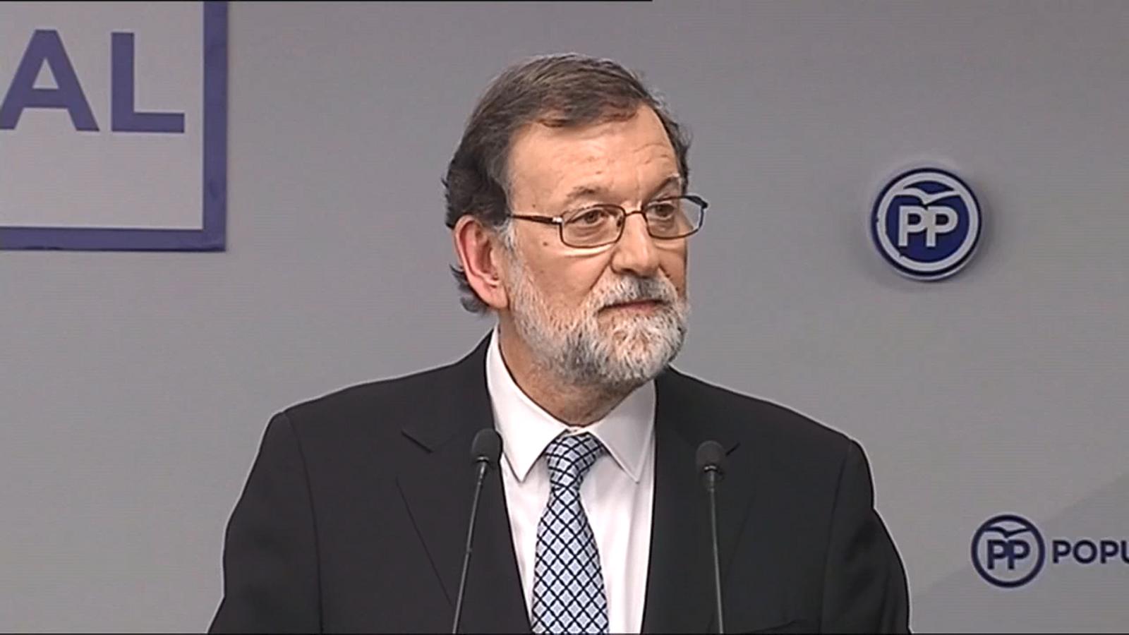 Rajoy anuncia que deixarà la presidència del PP després d'un congrés extraordinari