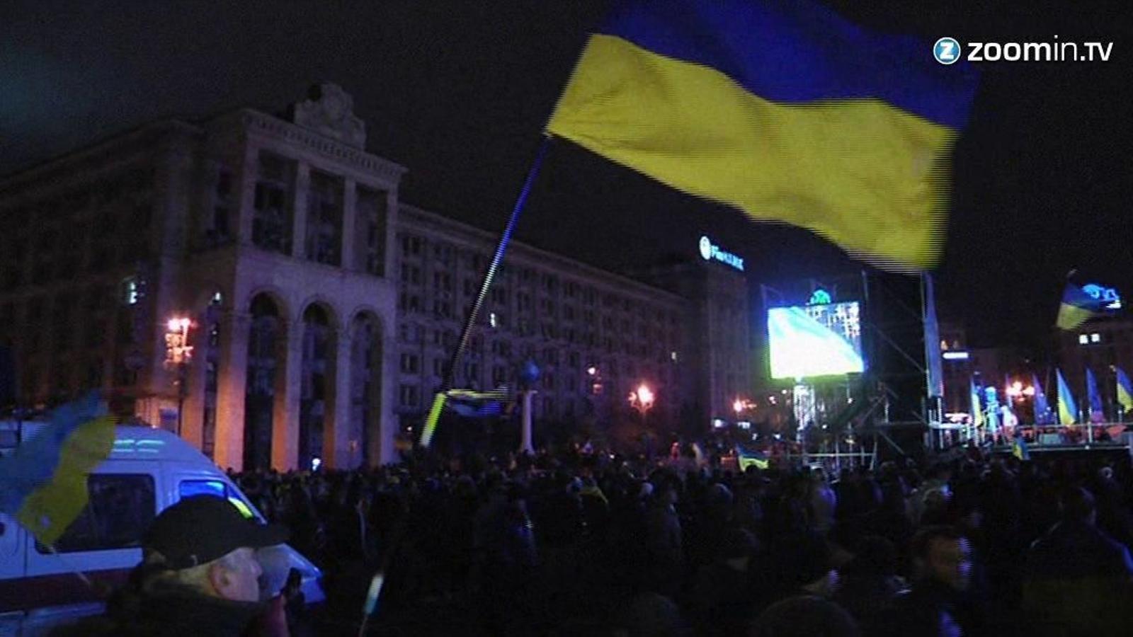 Protestes al carrer a Ucraïna