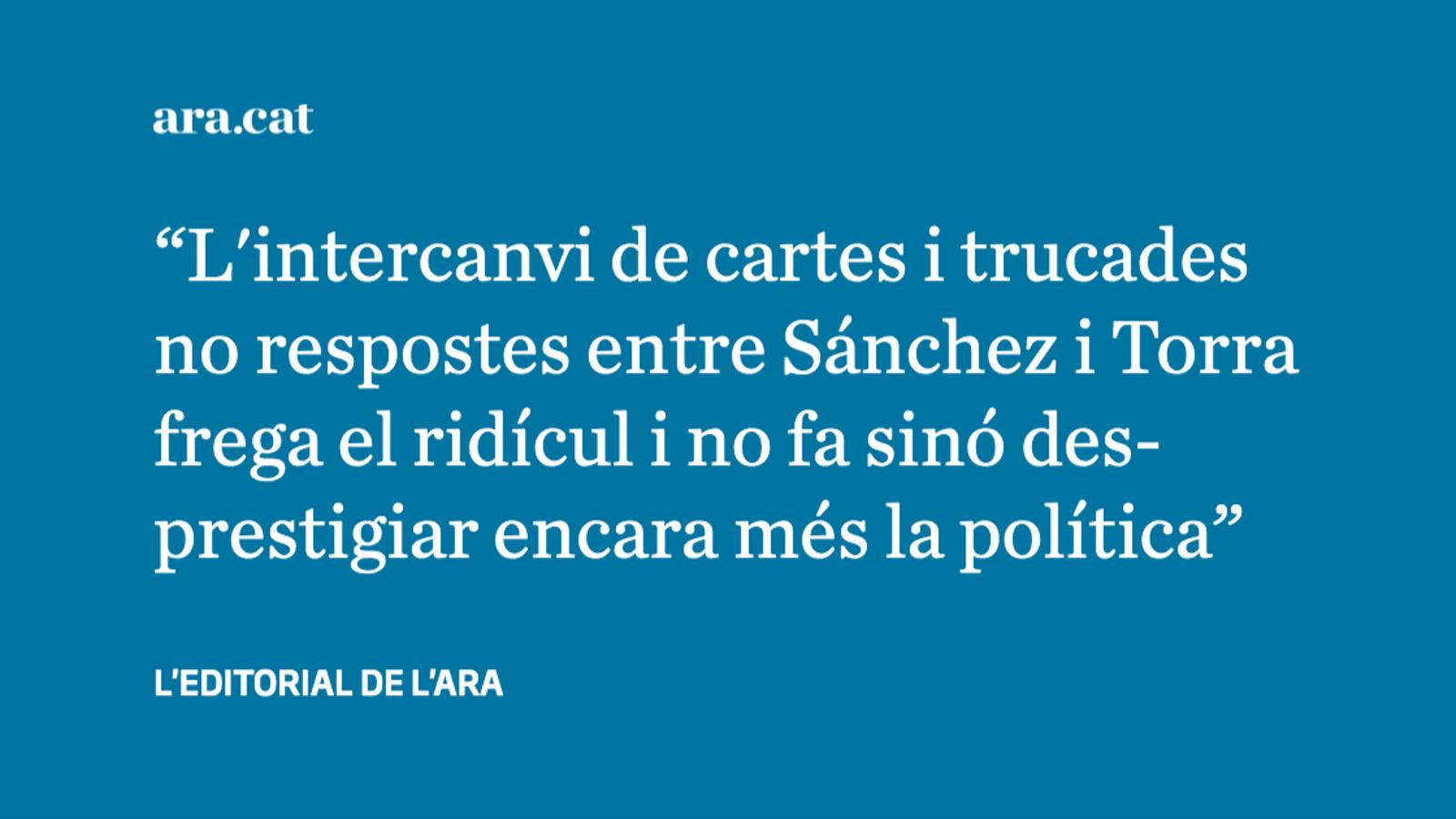 Senyor Sánchez, parlar no pot ser un problema