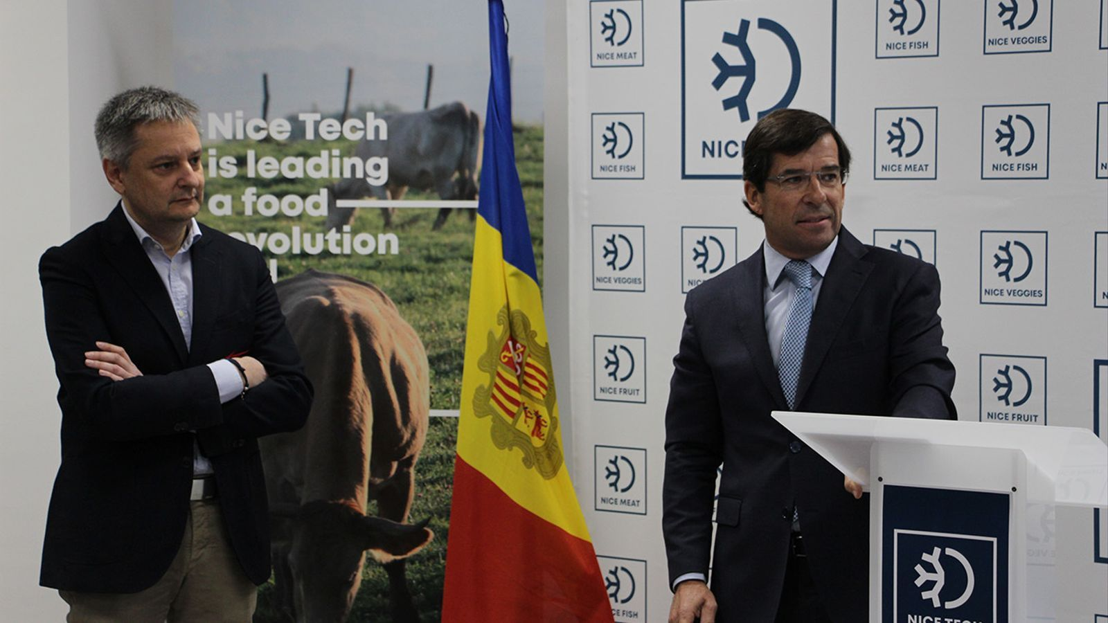 Un moment de la inauguracio del nou centre Nice Tech a Aixovall. / B. N. (ANA)