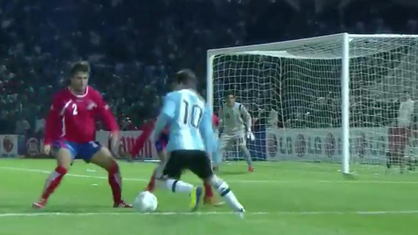 Resum de les millor jugades del Argentina-Costa Rica amb Messi com a líder amb dues grans assistències.