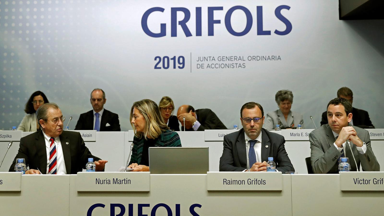 Imatge d'arxiu de la junta d'accionistes de l'any passat de la companyia farmacèutica catalana Grifols.