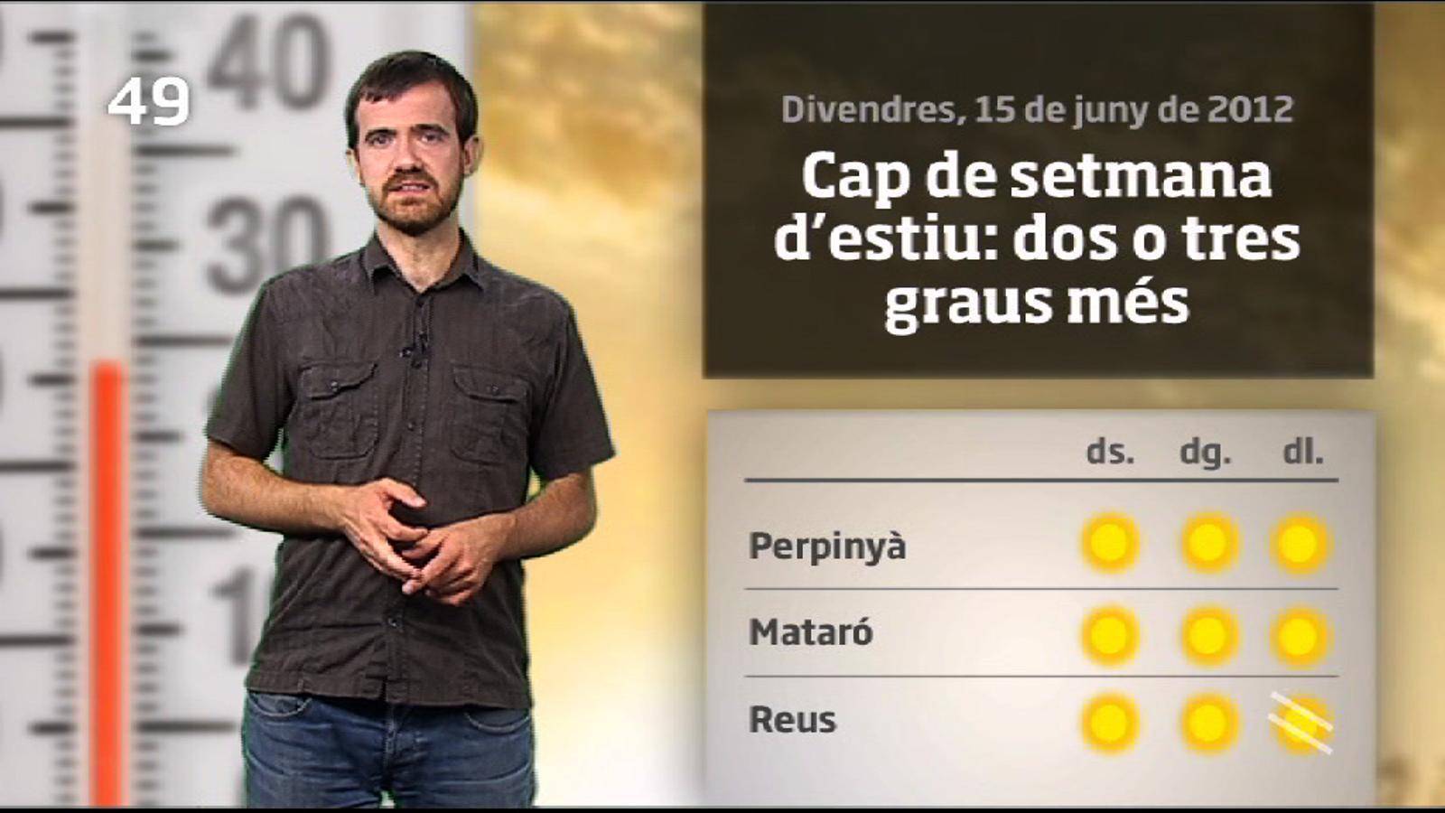 La méteo en 1 minut: cap de setmana de sol i calor (16/06/2012)