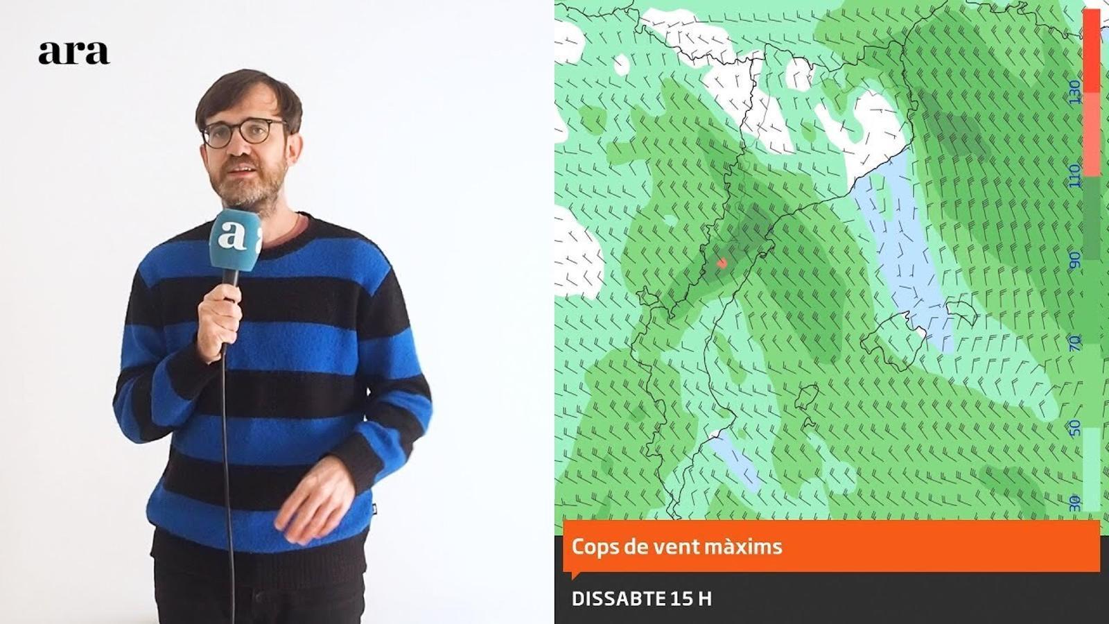 La méteo: fort vent, més neu i pujades i baixades de temperatura