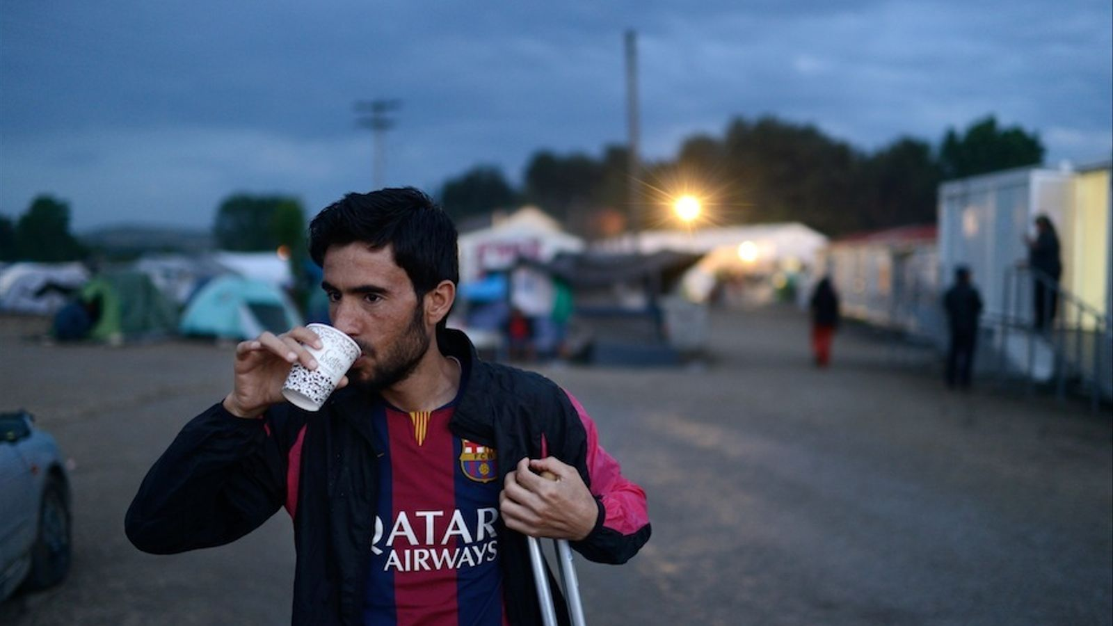 Mustafà Assaloum, refugiat sirià atrapat a Grècia.