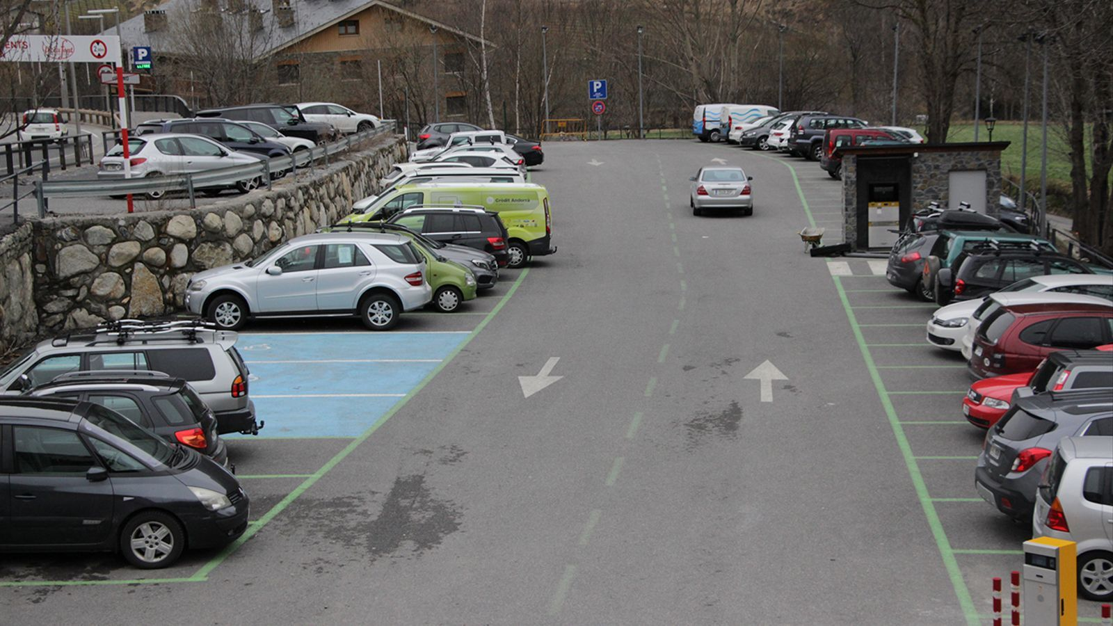 L'aparcament de Prat Vilella, a Ordino. / Comú d'Ordino