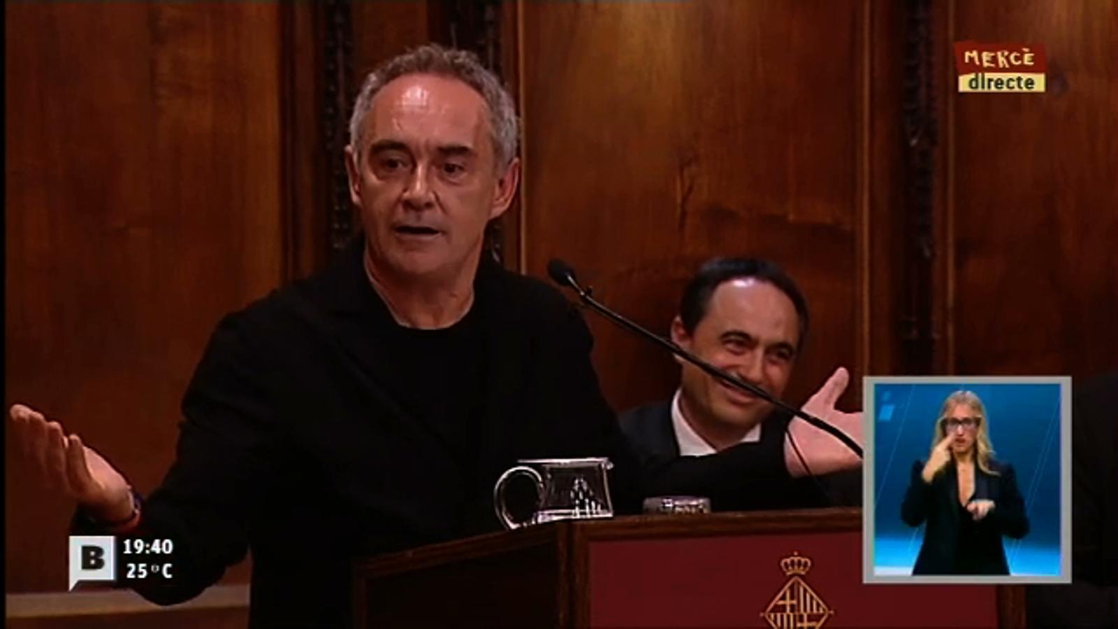 El pregó de 'La Mercè', per Ferran Adrià