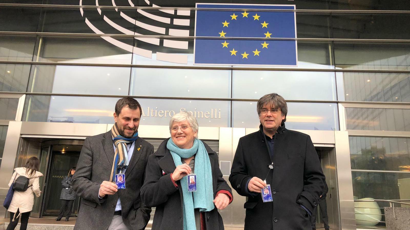 Ponsatí recull l'acreditació d'eurodiputada