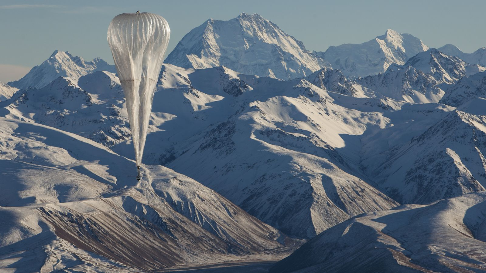 Un dels globus de Loon, filial de Google