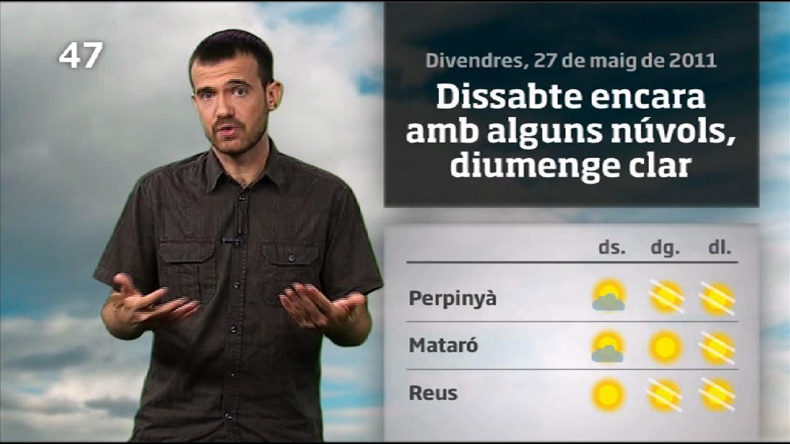 La méteo en un minut: cap de setmana amb més sol que núvols (27/05/2011)