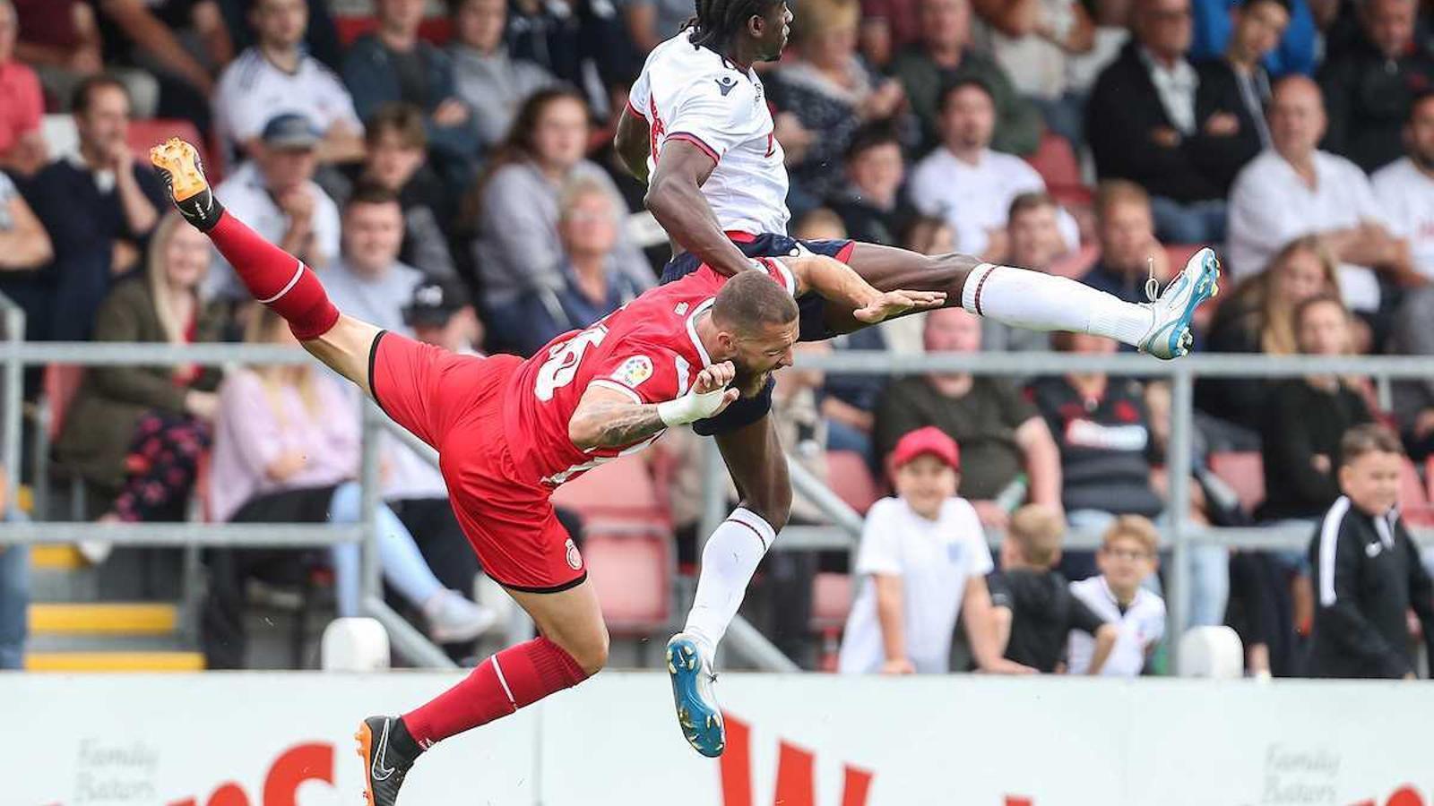 Imatge del partit de pretemporada entre el Bolton Wanderers i el Girona