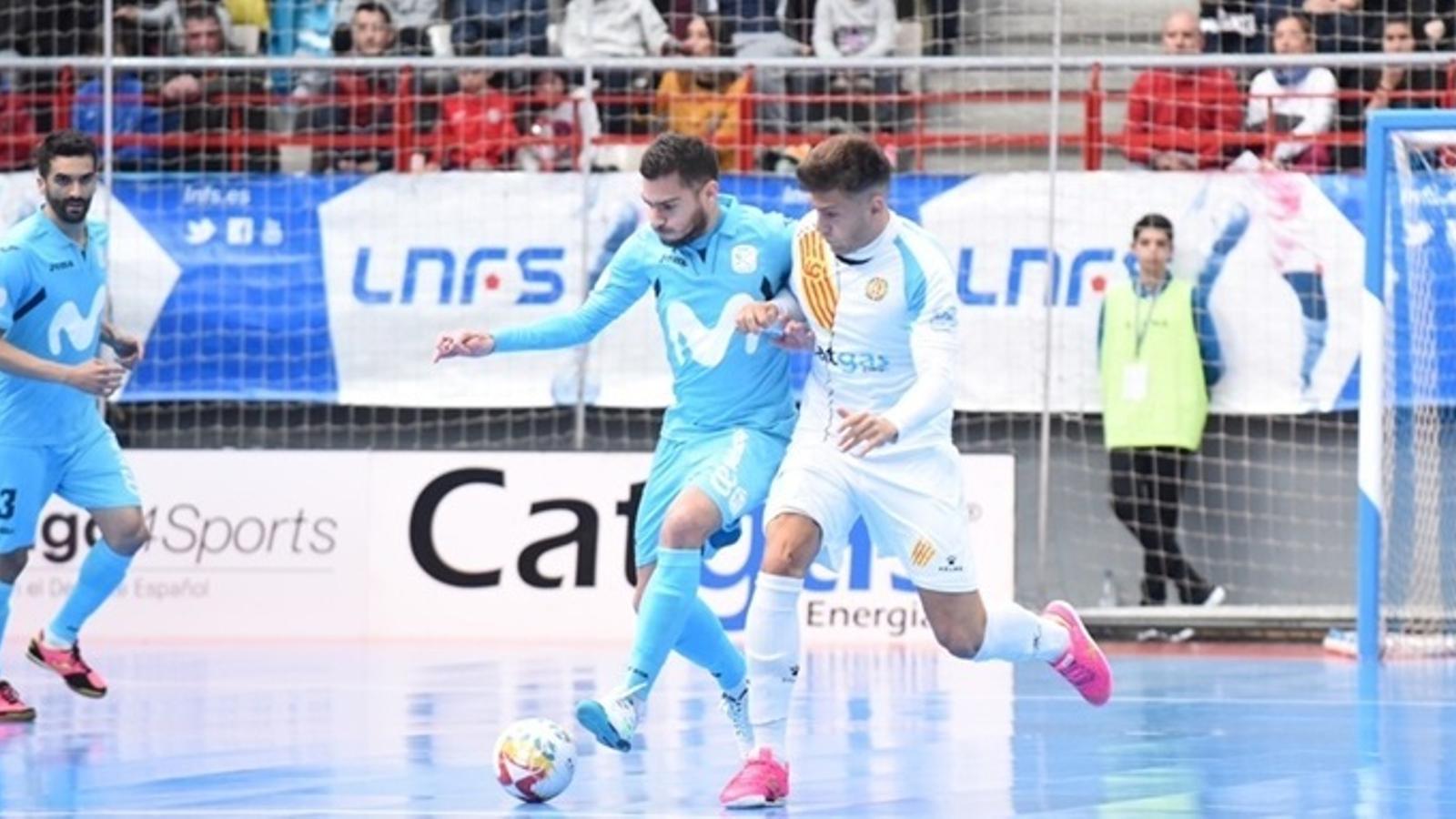 Imatge d'un partit entre el Catgas Energia i el Movistar Inter