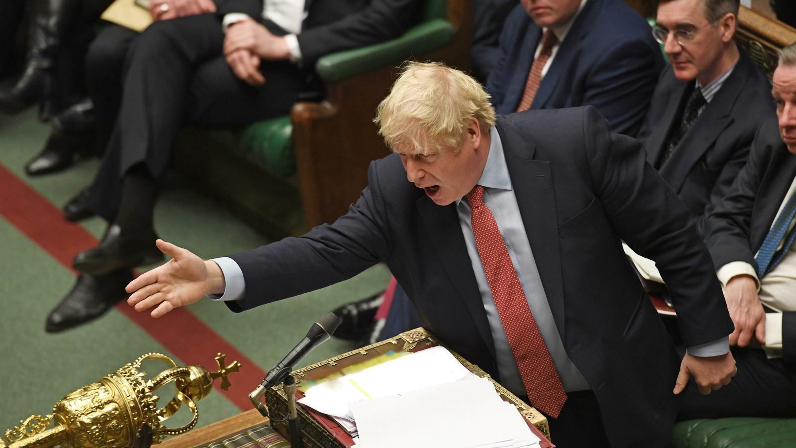 Boris Johnson, primer ministre britànic, durant la sessió de control d'aquest dimecres