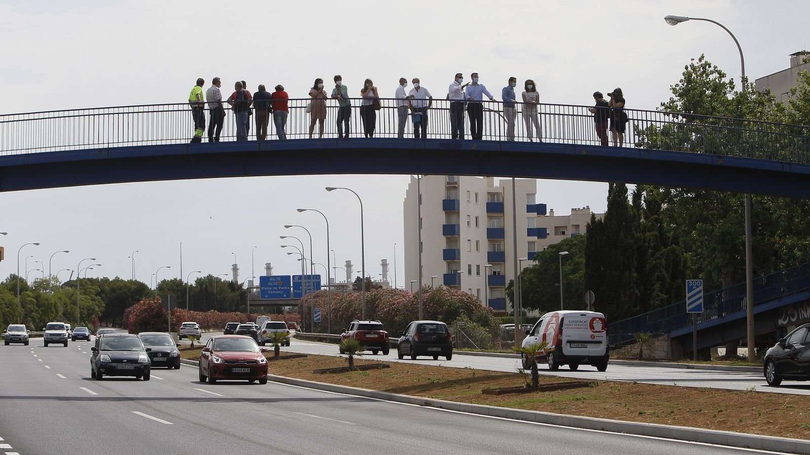 La nova entrada a Palma per l'autopista de Llevant.
