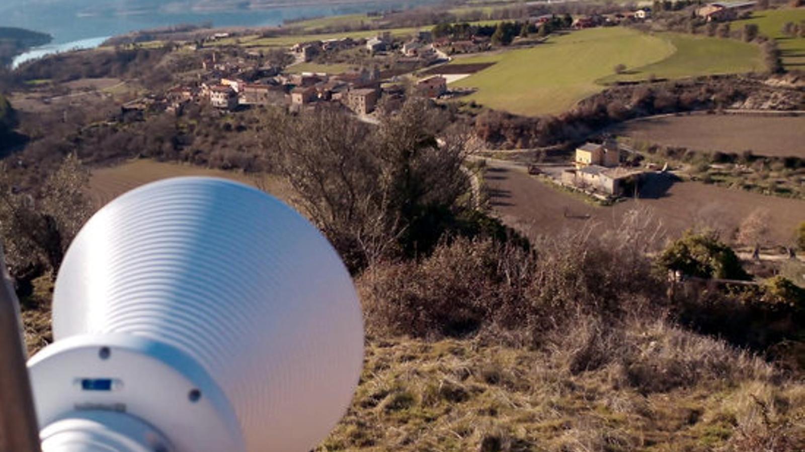 Un repetidor de WiCat a Aramunt, al Pallars Jussà. / ACN-WICAT