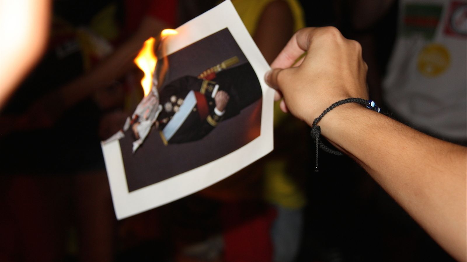 Strasbourg condemns Spain for having fined two young men who burned photos of the king in Girona / ACN