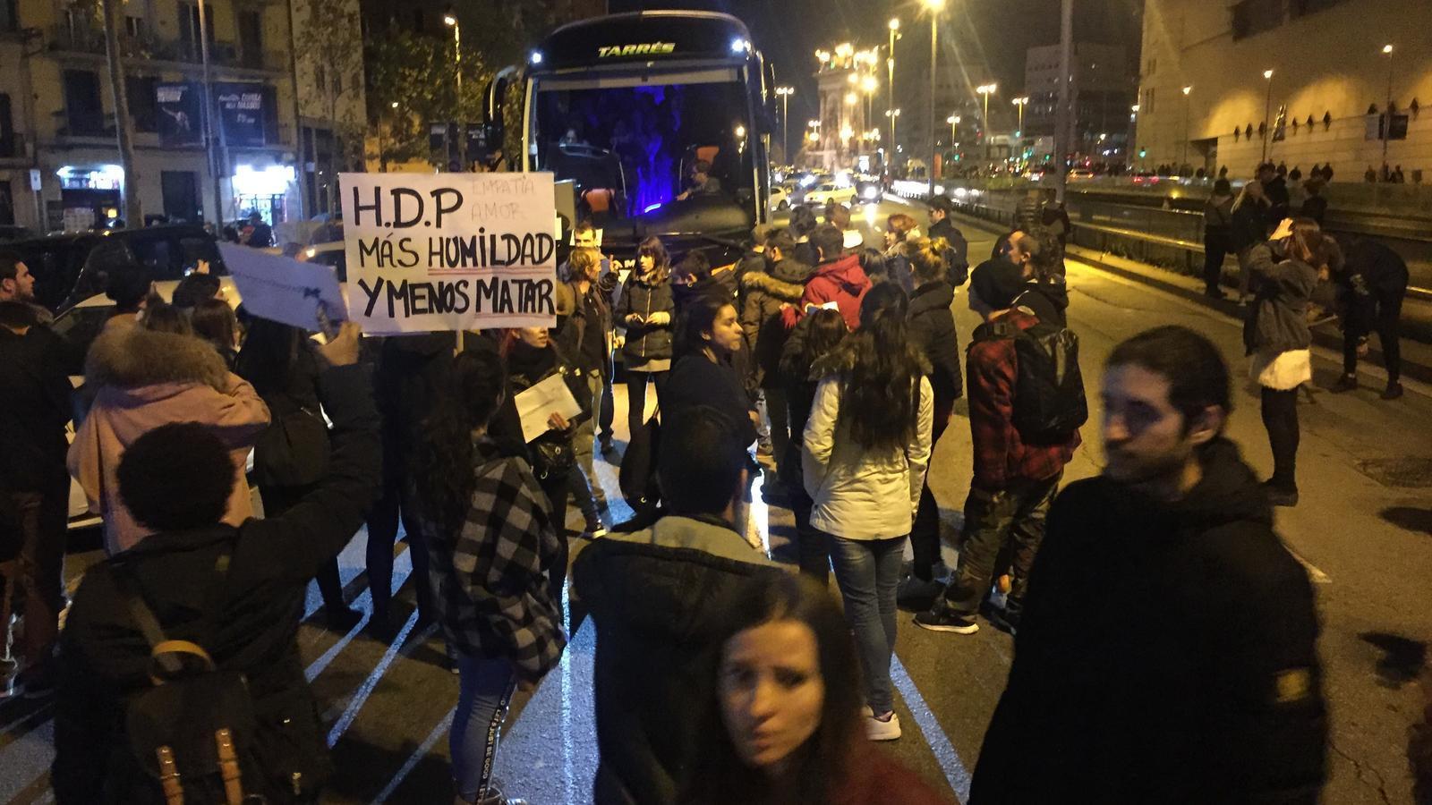 Cinc detinguts a Barcelona per llançar objectes contra els Mossos després d'una manifestació animalista