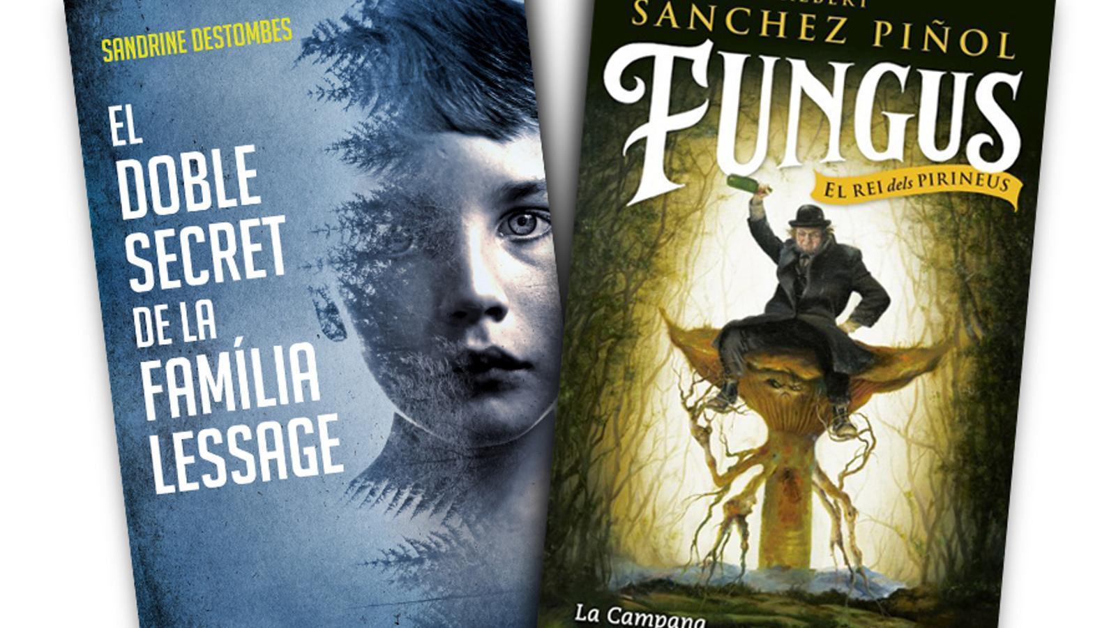 Portada del llibre El doble secret de la família Lessage de Sandrine Destombes, i Fungus, d'Albert Sánchez Piñol