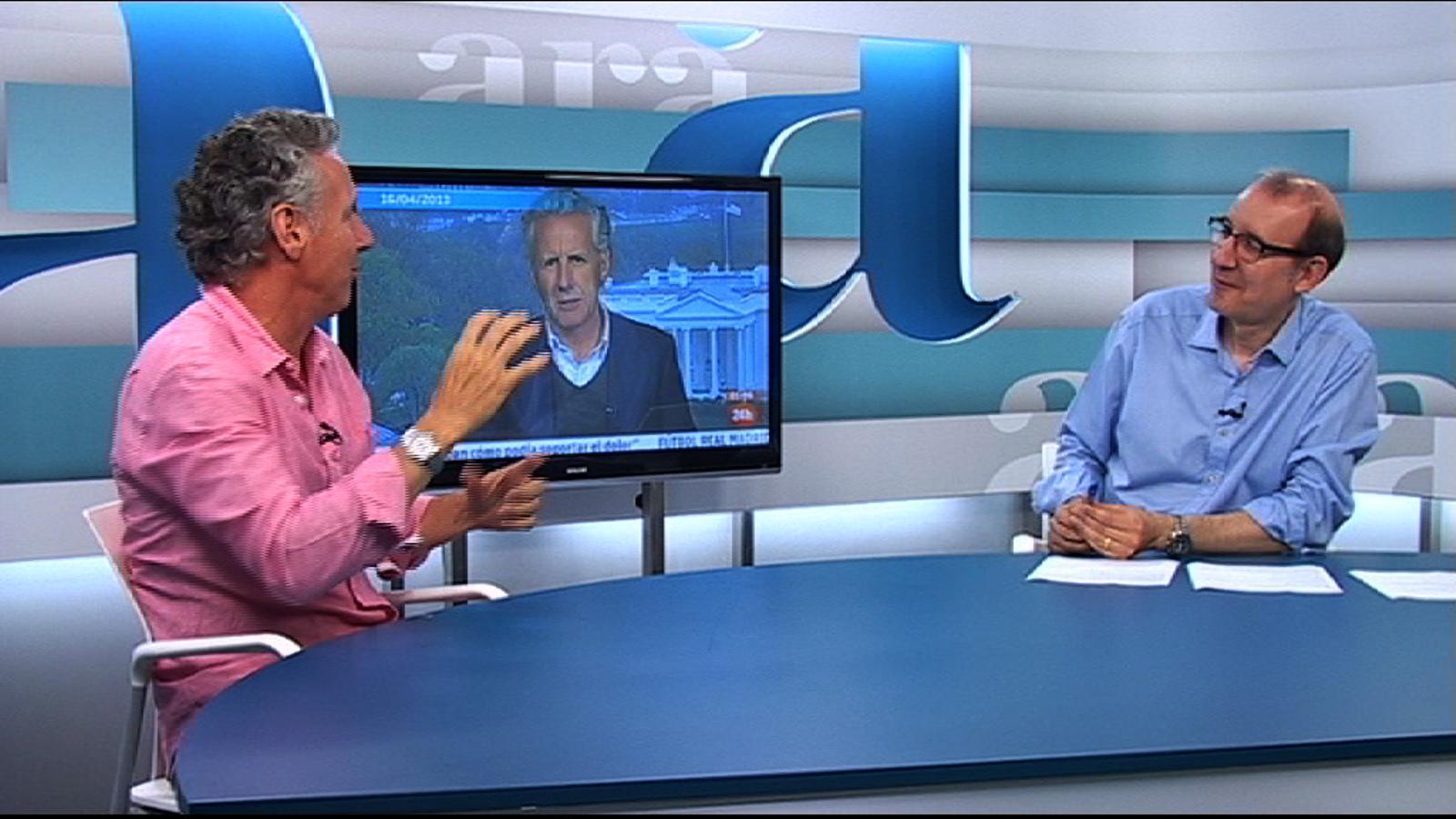 Entrevista d'Antoni Bassas a Lorenzo Milá, per l'Ara TV Premium
