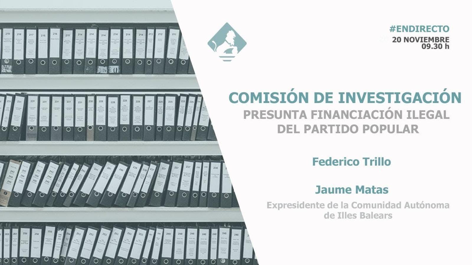 En directe: Compareixença de Jaume Matas a la comissió del Congrés que investiga la caixa B del PP