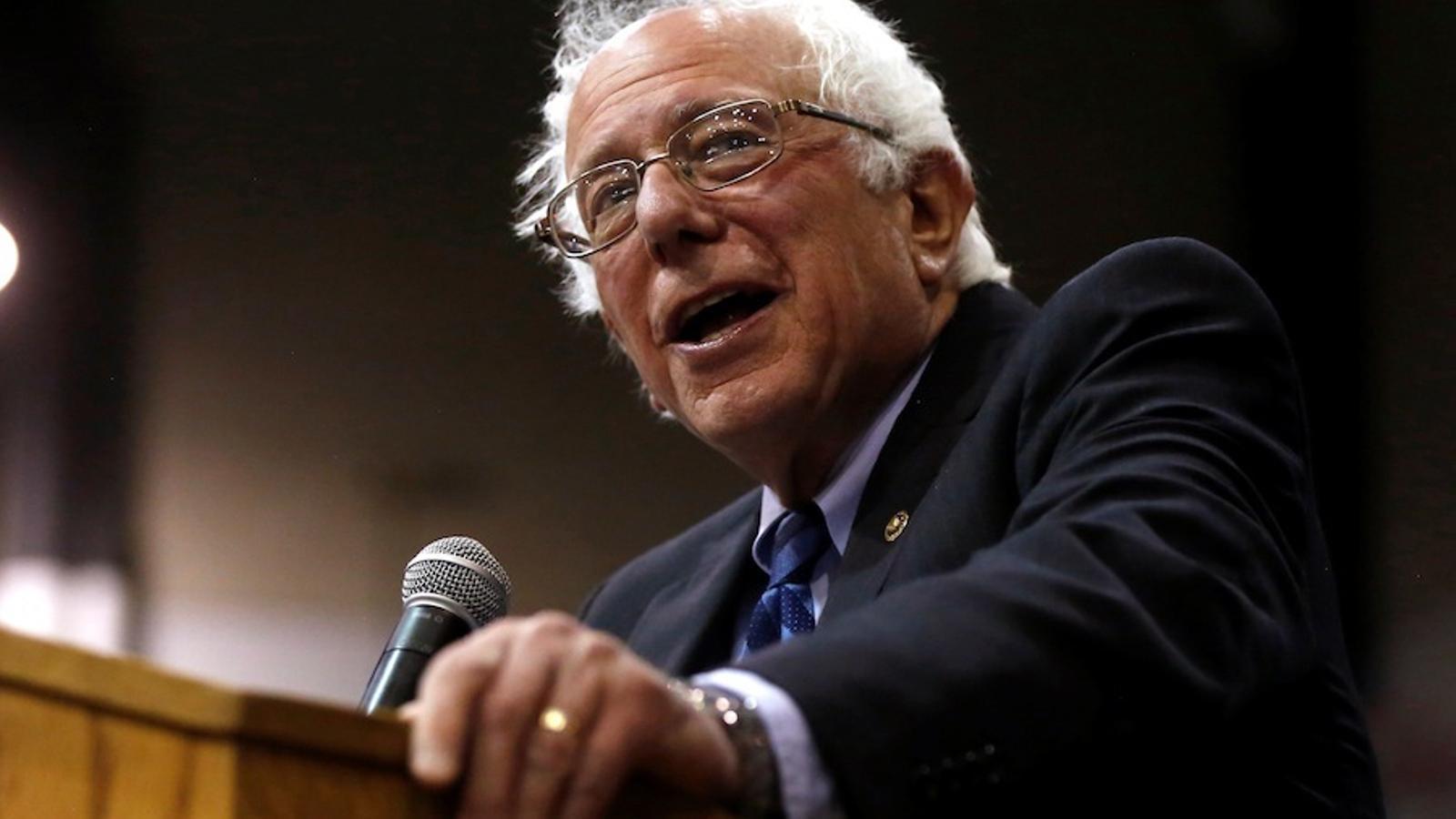 Bernie Sanders, en celebrar la victòria a Virgínia Occidental.