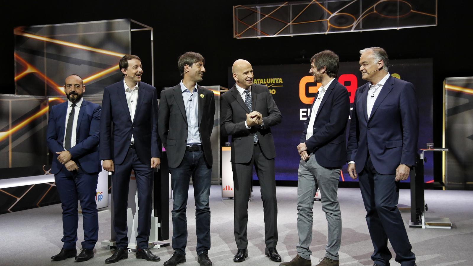L'absència de Junqueras i Puigdemont marca el debat a TV3