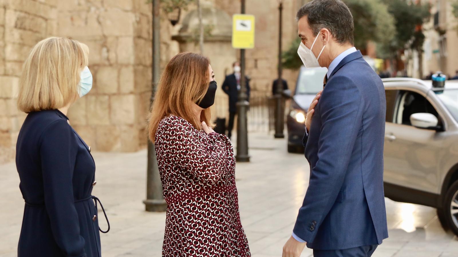 Armengol ha rebut Pedro Sánchez a les portes del Palau de l'Almudaina