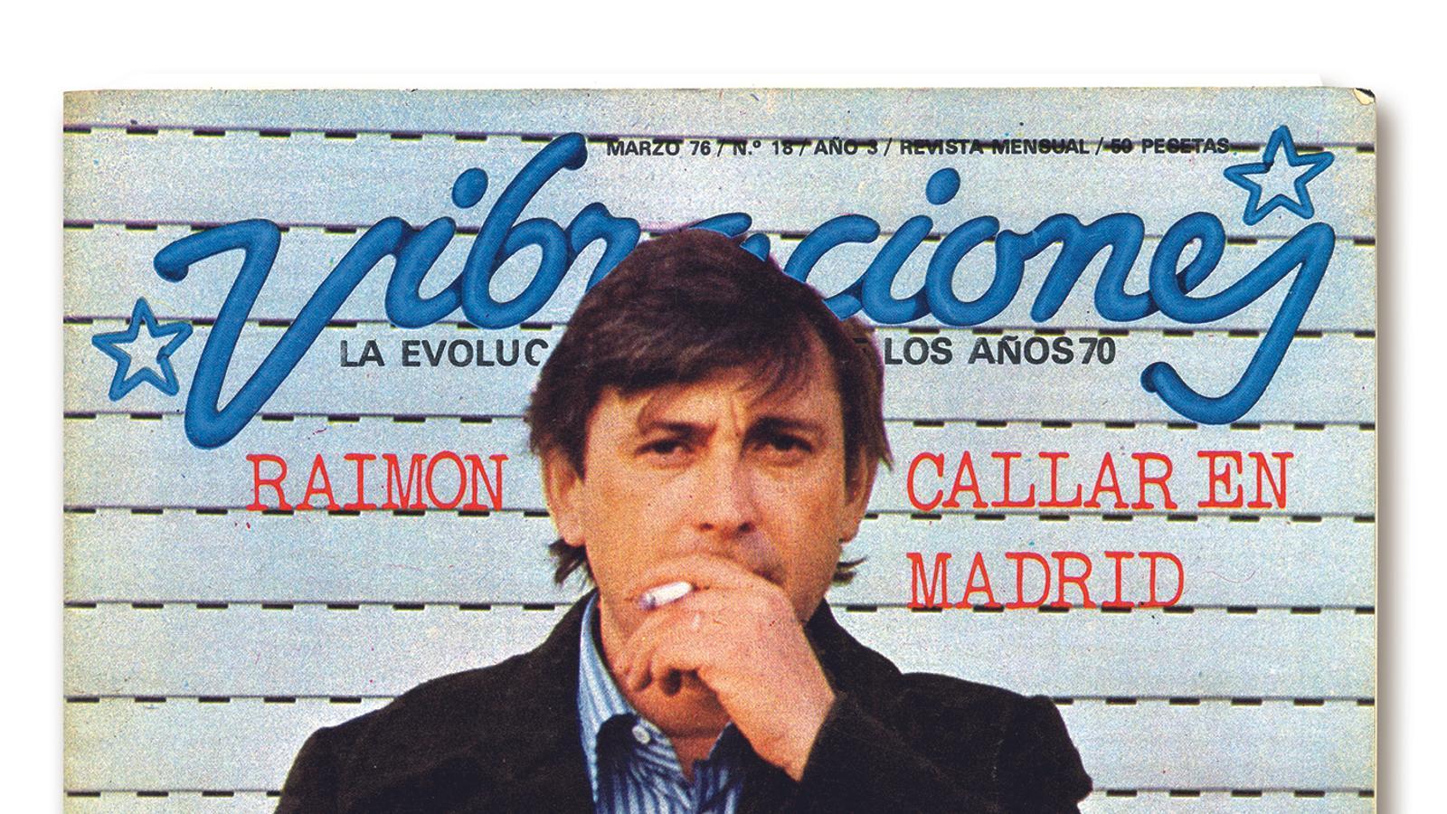 Portada de la revista Vibraciones, de març del 1976, amb Raimon com a protagonista