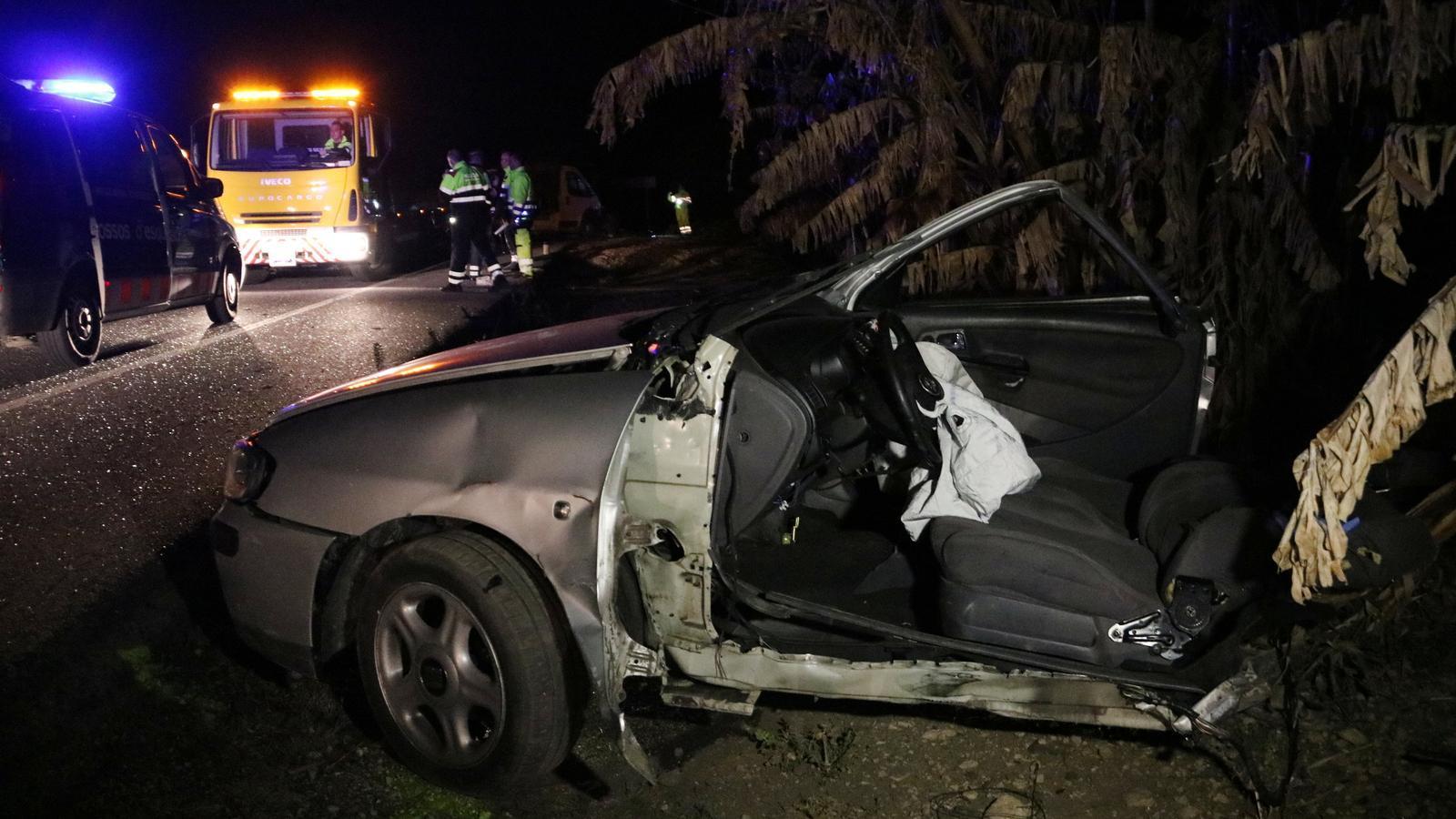 El conductor d'un turisme va morir divendres a la N-340 en un accident a Mont-roig del Camp