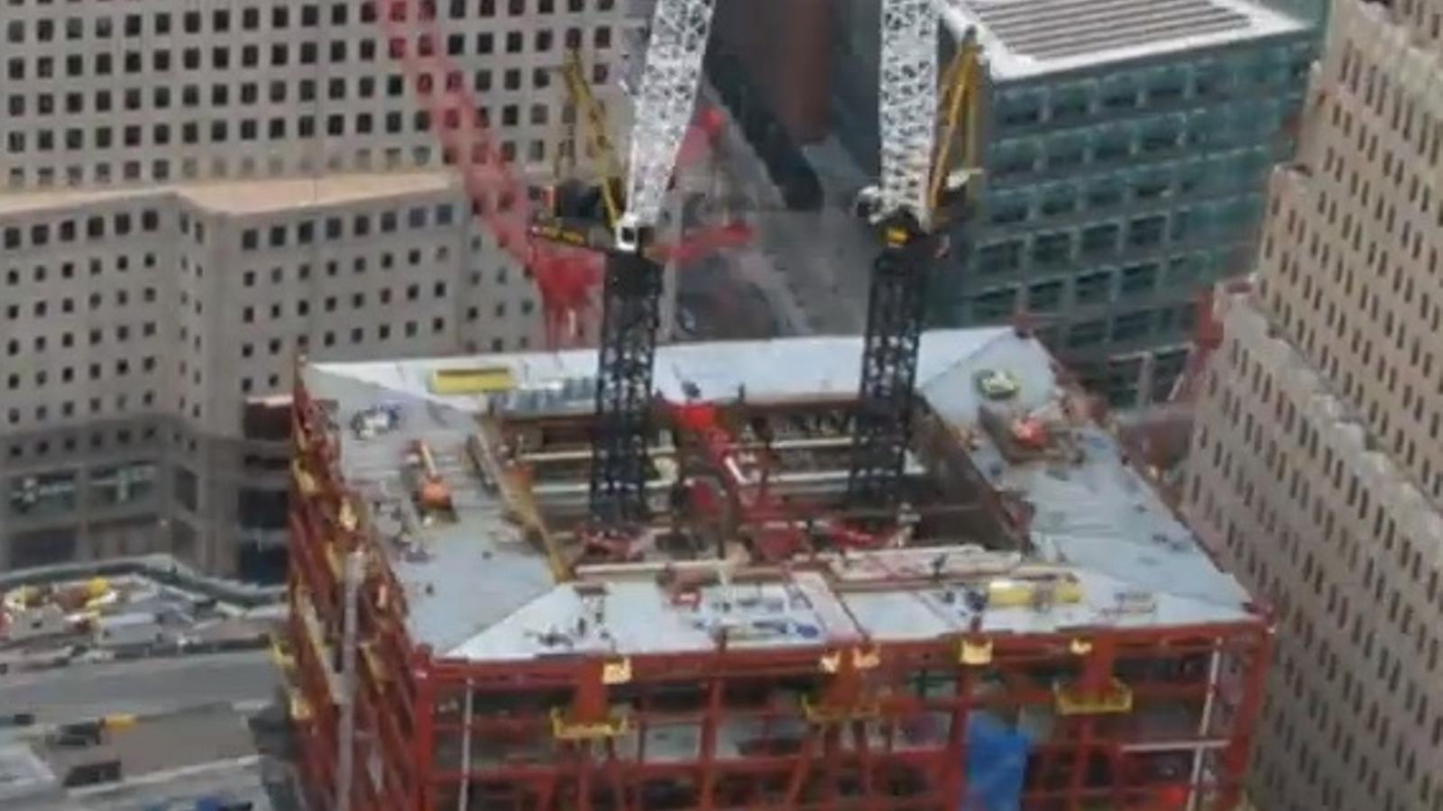El nou World Trade Center supera els 380 metres en només 2 minuts: les obres en 'time lapse'