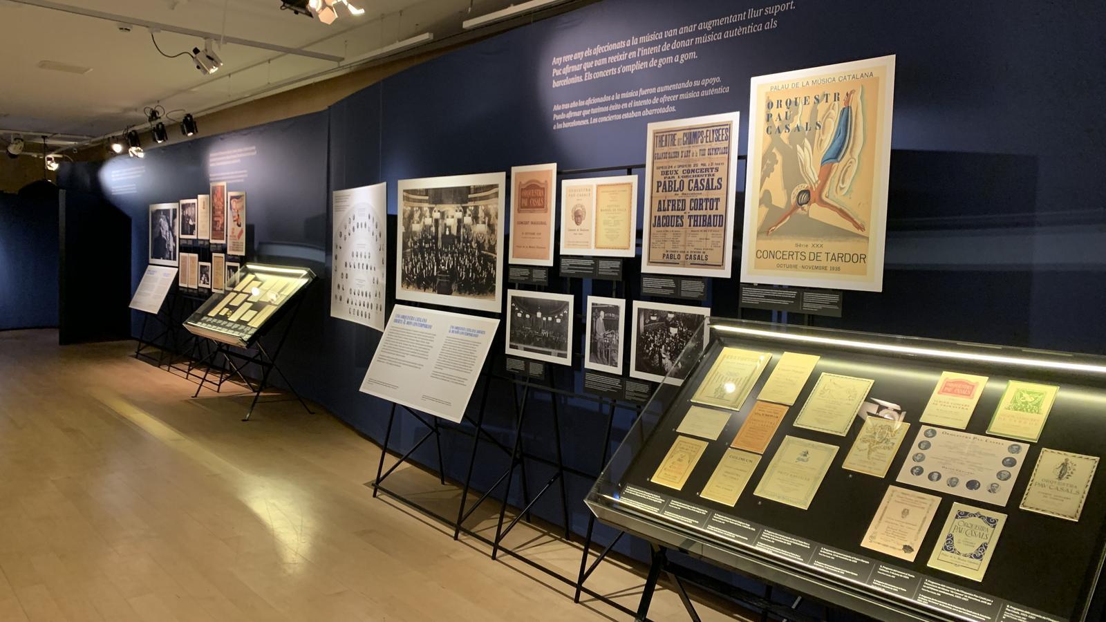 Exposició sobre l'Orquestra Pau Casals al Museu de la Música