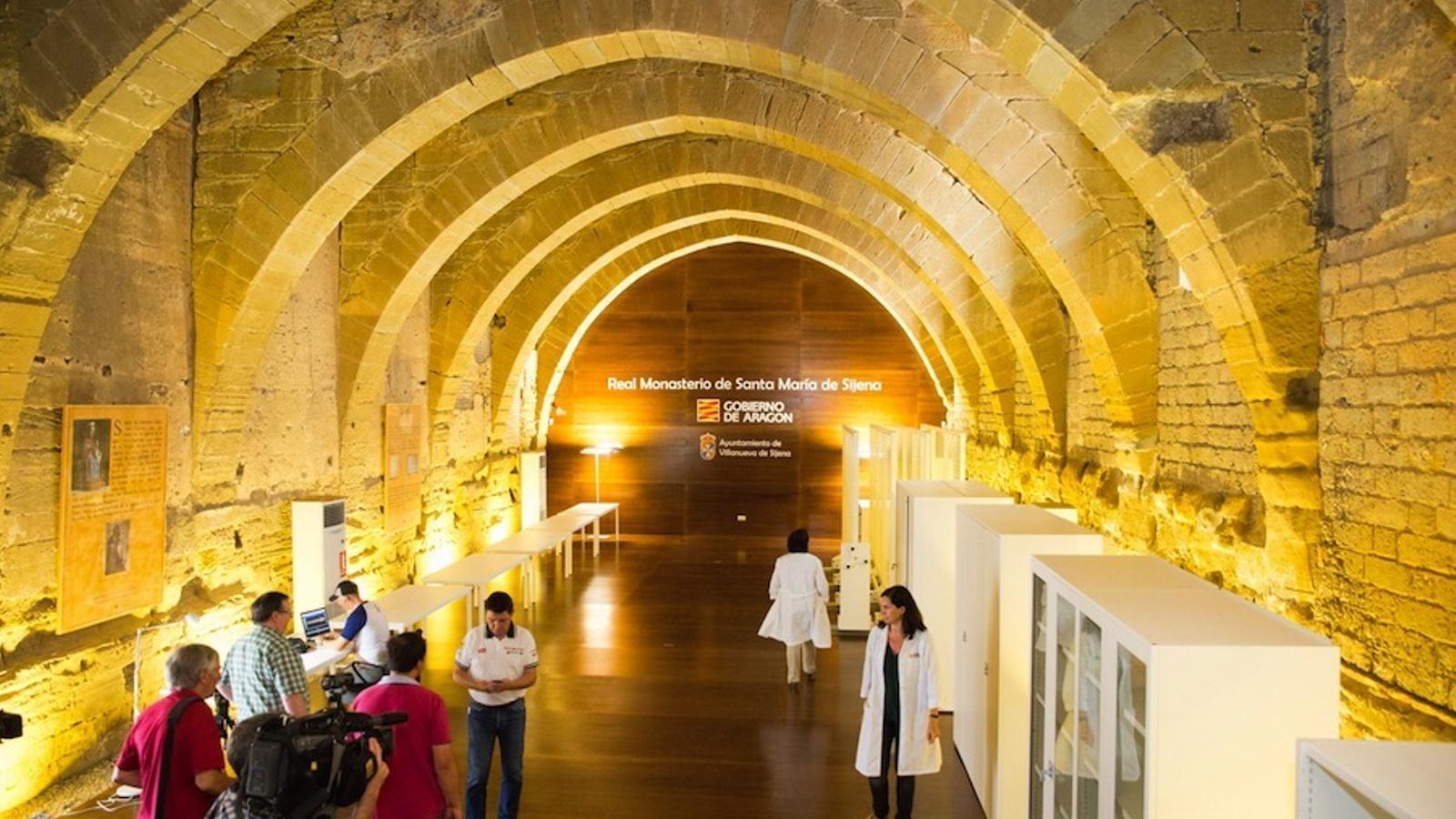 El monestir de Santa Maria de Sixena, llest per rebre les obres dels museus catalans