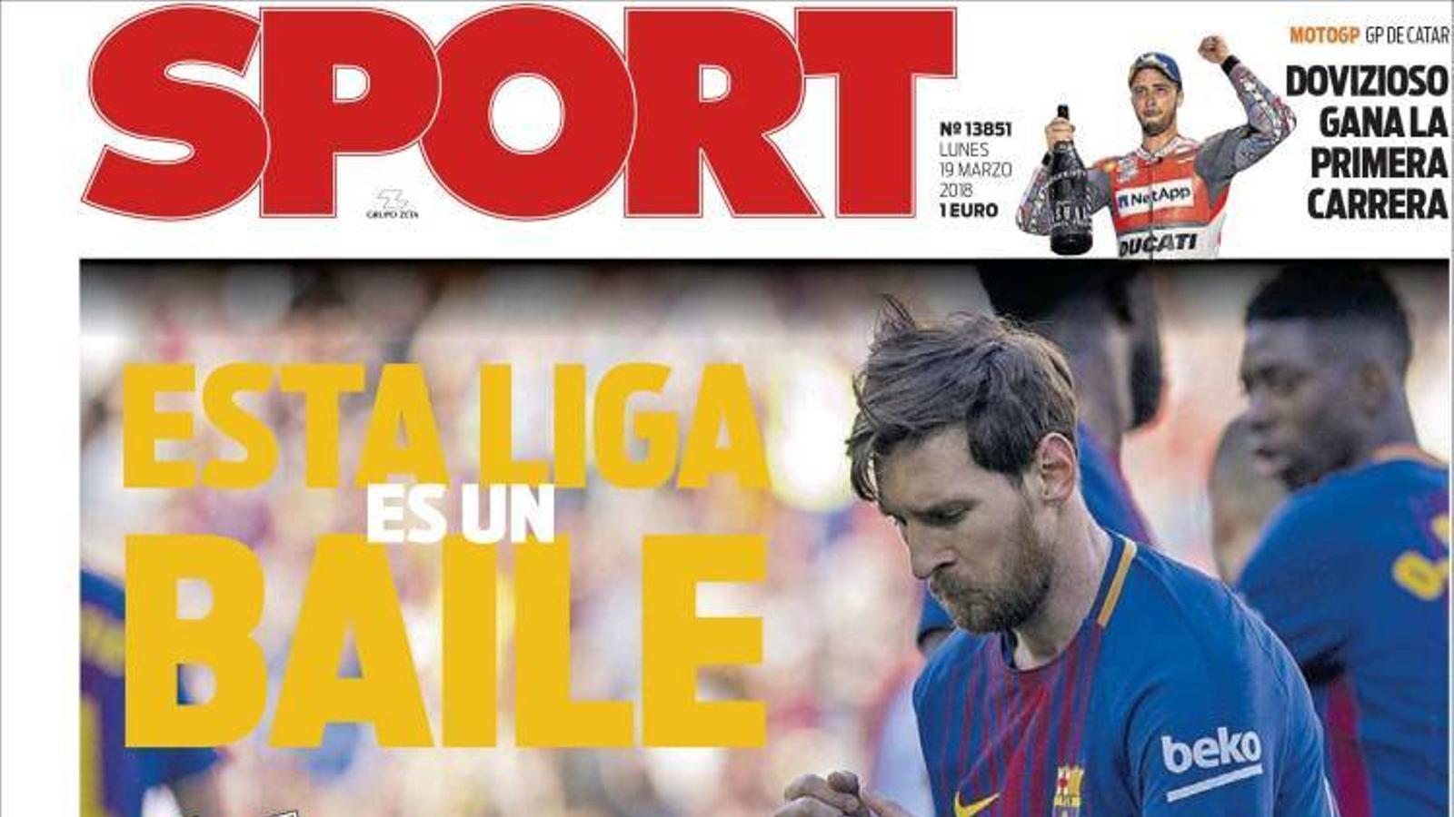 Portada 19 març 2018 Sport