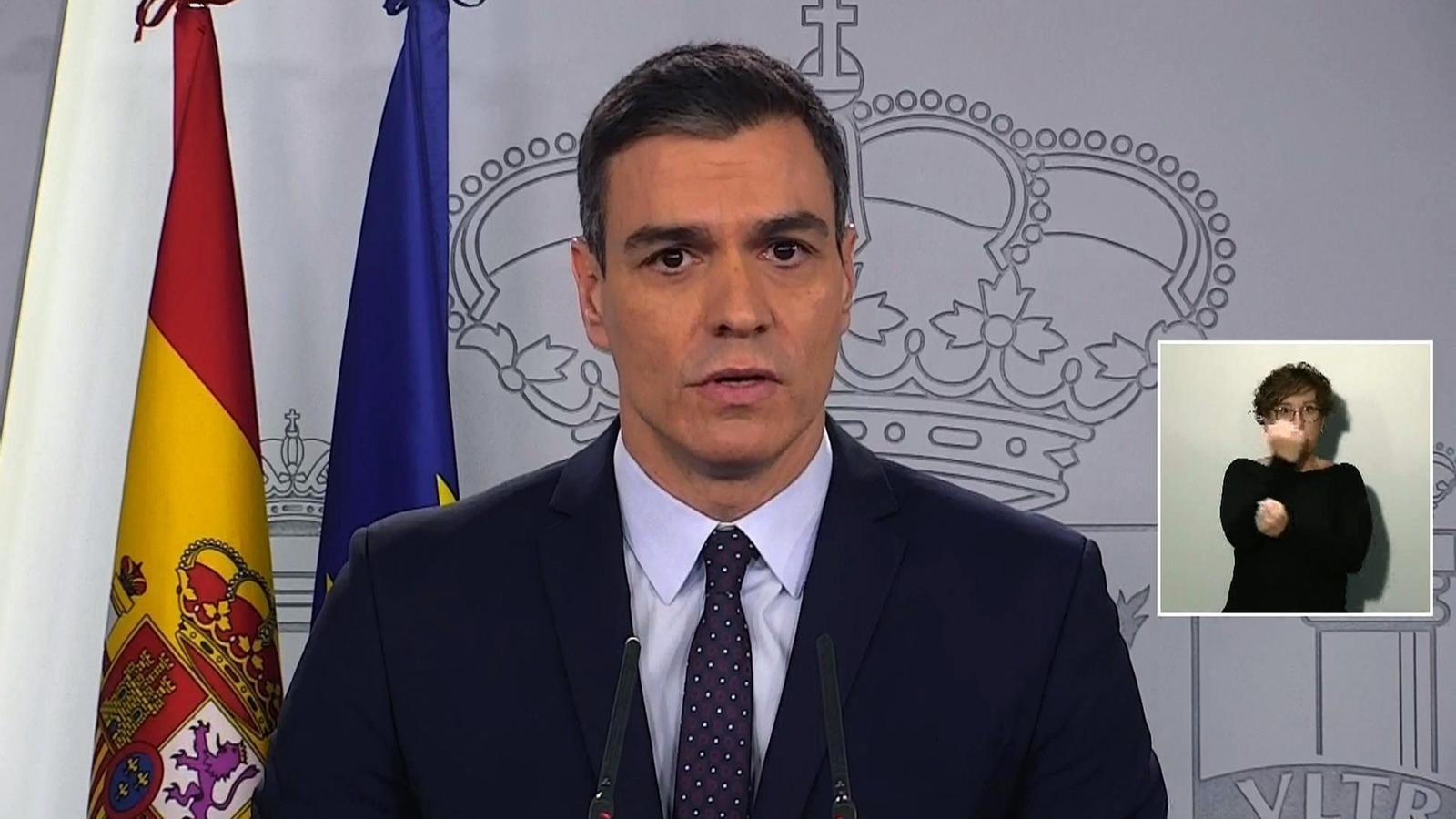 """El govern espanyol """"mobilitzarà"""" fins a 200.000 milions d'euros perquè les empreses puguin fer front al coronavirus"""