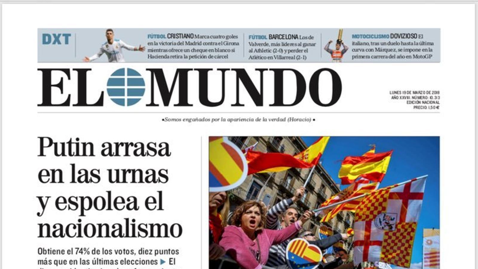 """""""'El separatisme ha fracassat'"""", portada de l''Abc'"""