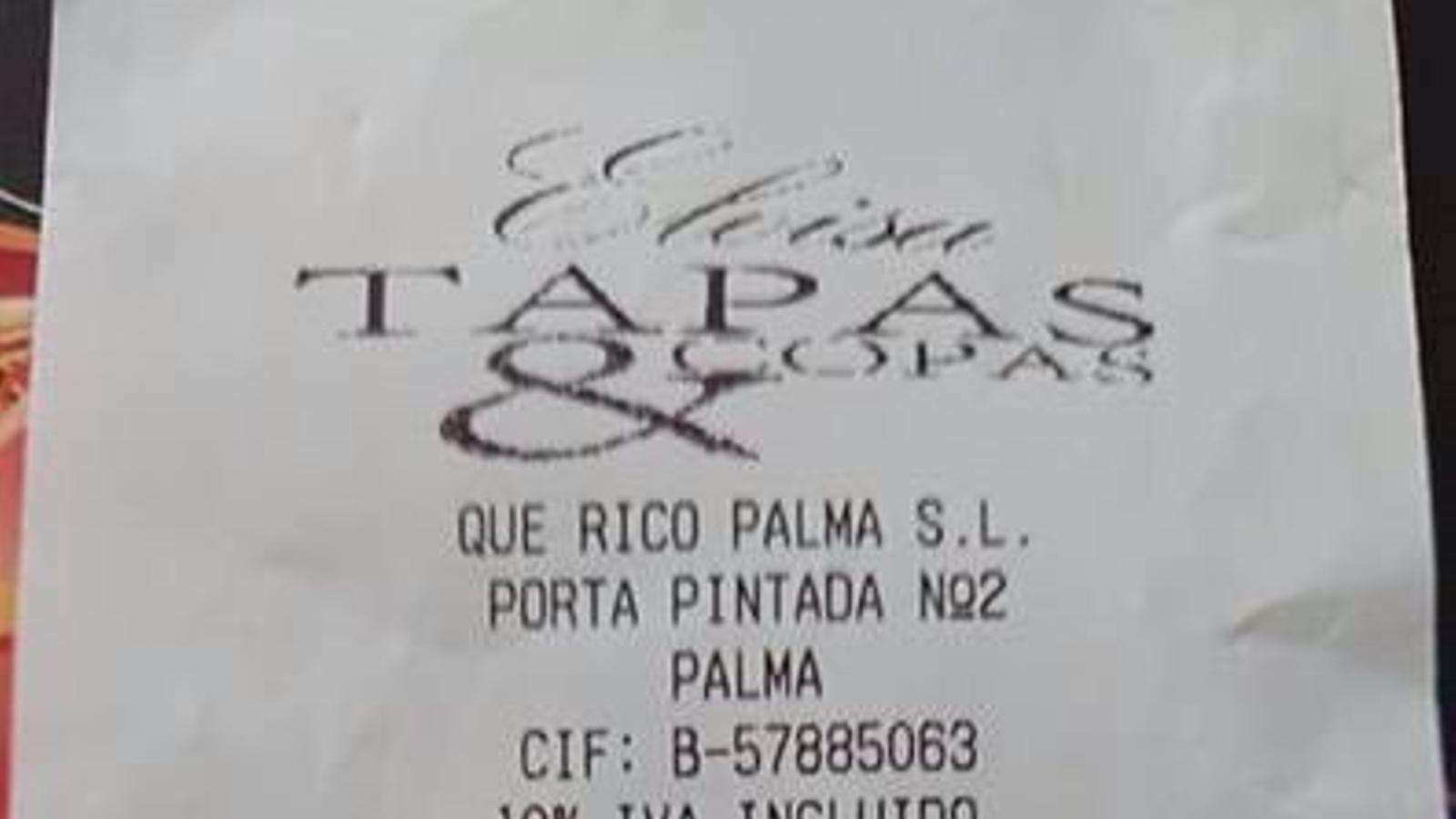21,50 euros per un refresc i un suc de taronja a un bar al centre de Palma