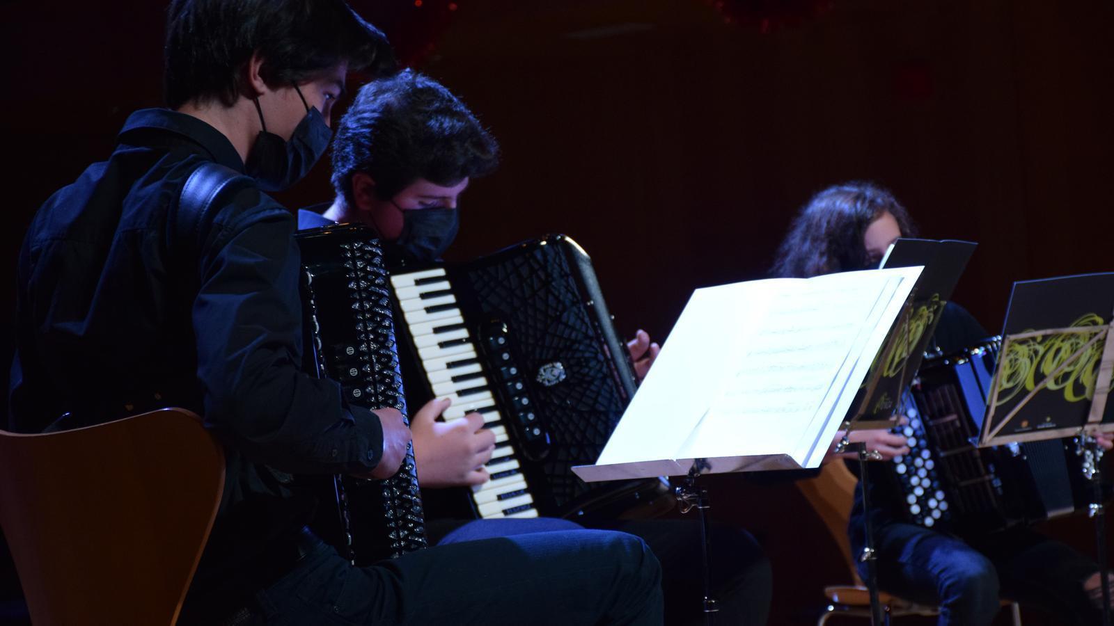 Instant del concert de Nadal a l'Auditori Nacional d'Andorra a Ordino. / A. S. (ANA)