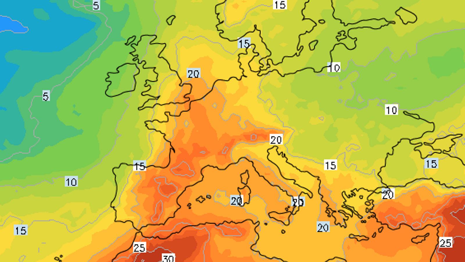 Una segona onada de calor forta podria afectar Europa la setmana que ve