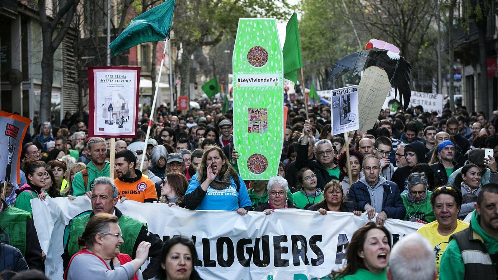 Les lluites per l'habitatge: una dècada forçant l'agenda política