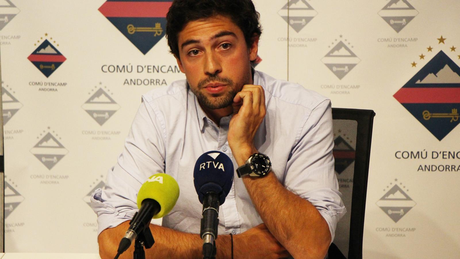 Álvaro Rodríguez, durant la roda de premsa. / M. P. (ANA)