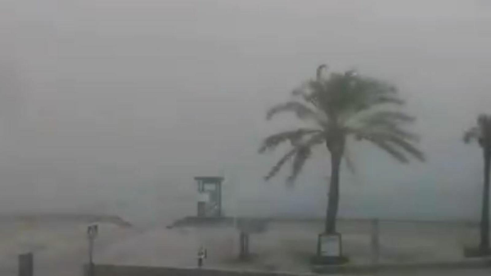 Imatge de com ha entrat la tempesta a Sant Antoni, Eivissa.