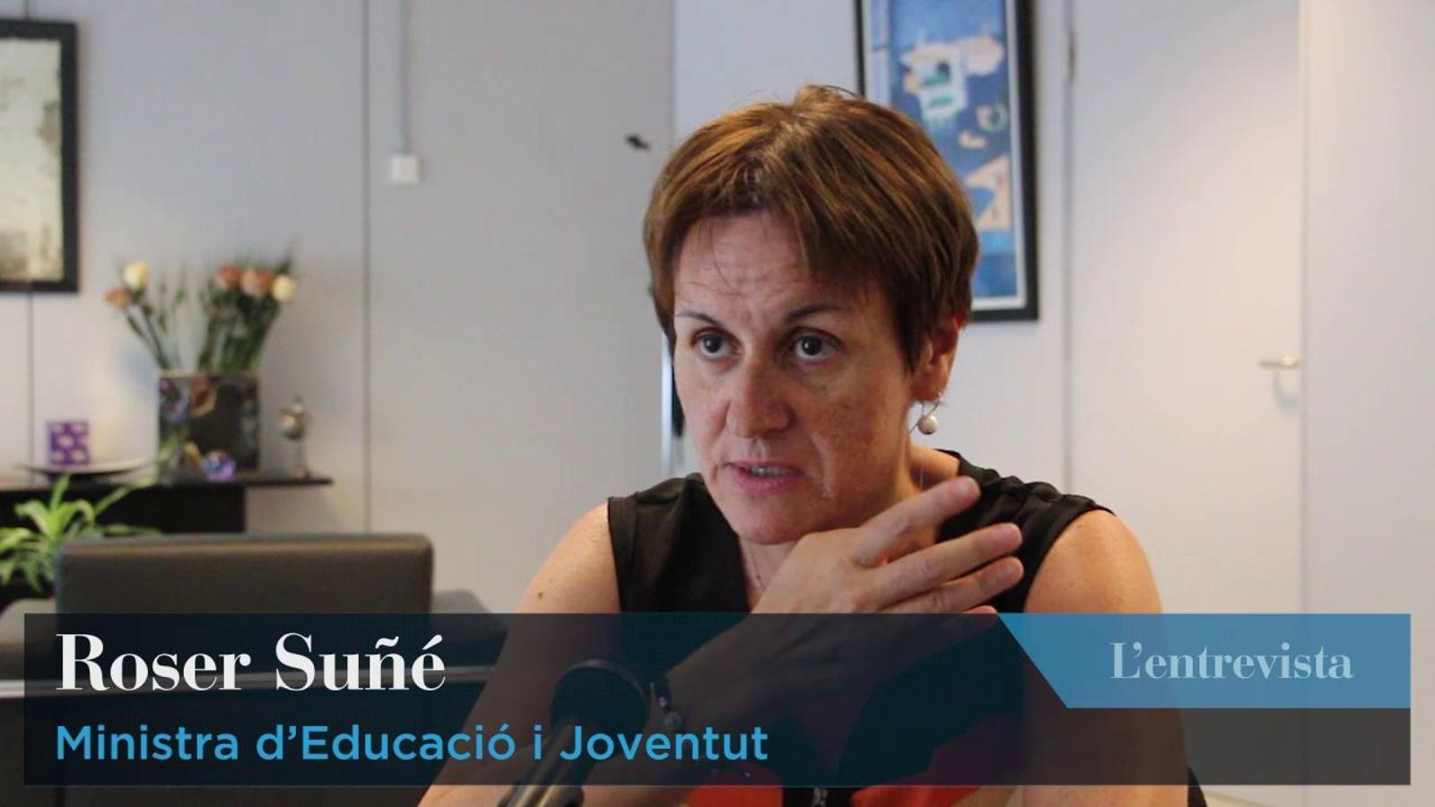 Entrevista a la ministra d'Educació, Roser Suñé