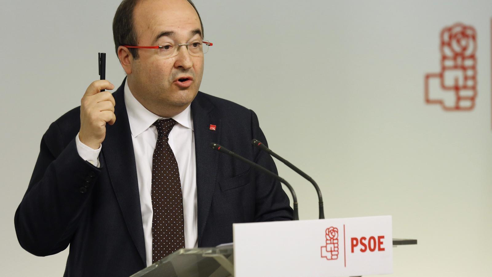 Iceta defensa que els Mossos assegurin la celebració del consell de ministres a Barcelona el 21-D