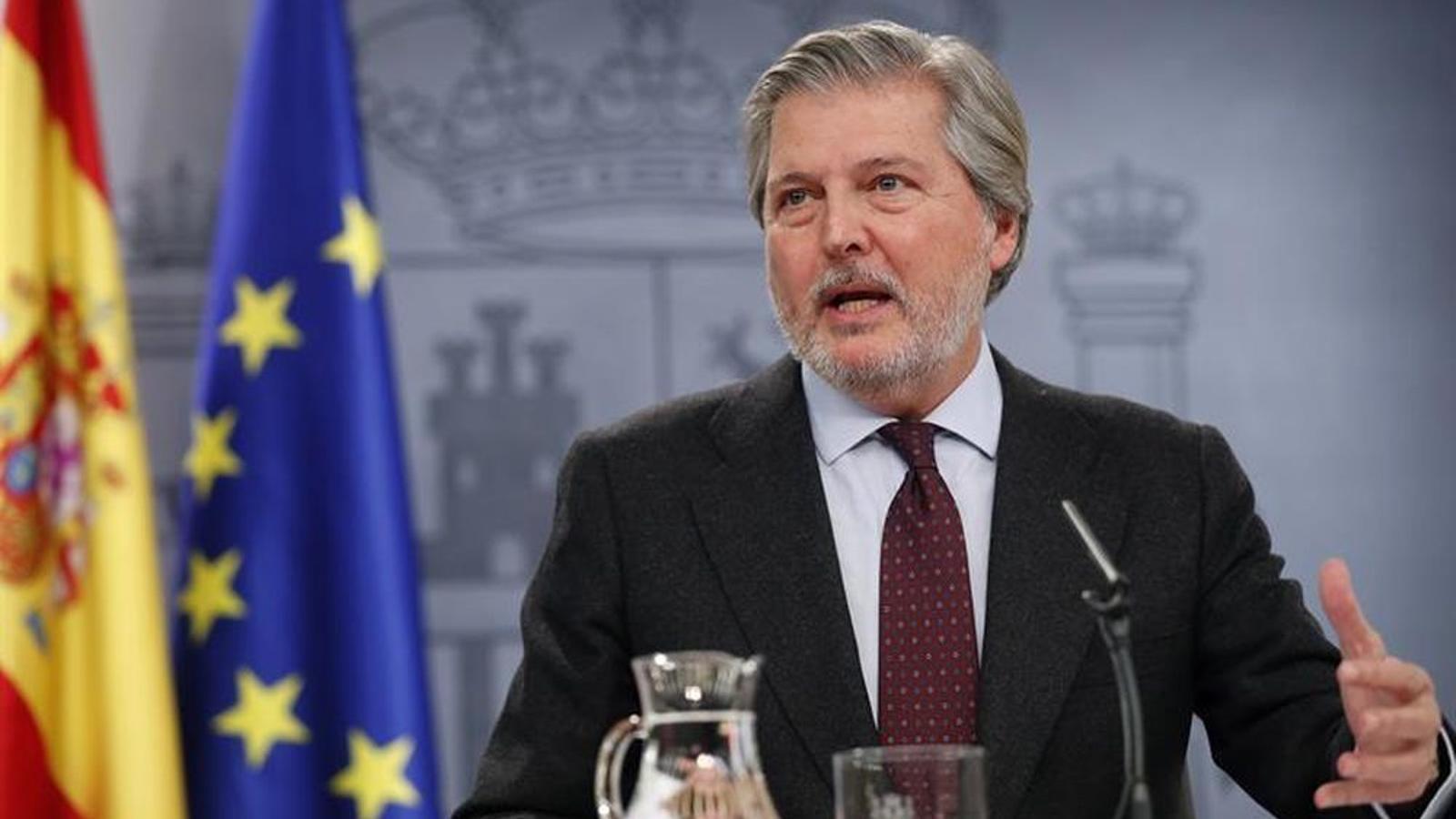 El portaveu del govern espanyol, Íñigo Méndez de Vigo